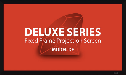"Severtson Fixed Frame Projector Screen Deluxe Series Rear Projection [2:35:1] 141""-189"""