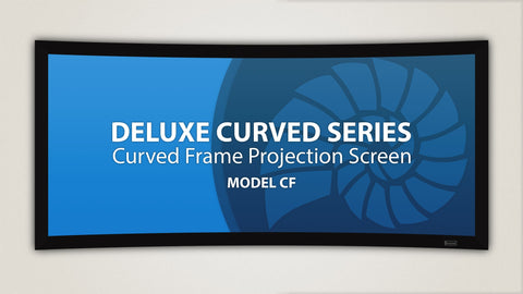 "Fixed Frame Projection Screen Deluxe Curved Series [2.35:1] 113""-141"""