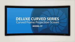 Fixed Frame Projection Screen Deluxe Curved Series [2.35:1] 113