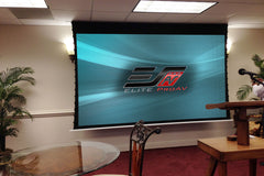 Elite Screens Evasence Tab Tension Electric Screen 121 inch 16:9 CineWhite - 1.1 Gain