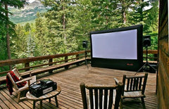 Open Air Cinema Outdoor Inflatabe Home Projection Screen 9' - 20' (16:9 Format)