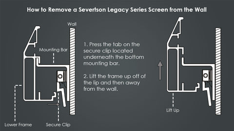 Severtson Fixed Acoustically Transparent Projector Screen Legacy Series 16:9, 150 inch