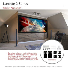 Elite Screens Curved Lunette 2 Projector Screen 4K 125