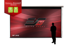 Elite Screens Pull Down Retractable 4K 180 inch Projector Screen 16:9