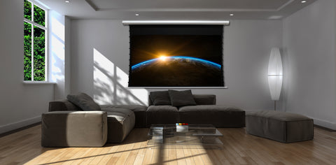 Elite Screens Saker Tab-Tension CineGrey5D, 100 inch 16:9 Electric Projector Screen