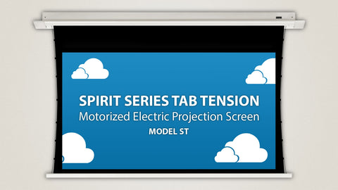 "Severtson Motorized Projection Screens In-Ceiling Spirit Series Tab Tension 16:10, 94""-154"""