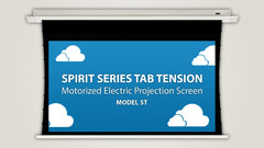Severtson Motorized Projection Screen In-Ceiling Spirit Series Tab Tension 16:9 92