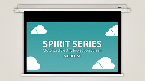 "Severtson Motorized Electric Projection Screen In-Ceiling Spirit Series [16:9-16:10] 92""-154"""