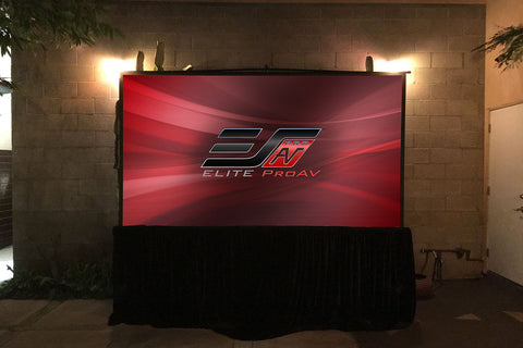 Elite Screens Tripod Stage 153 inch. Multi Aspect Ratio Capability 1.1 Gain