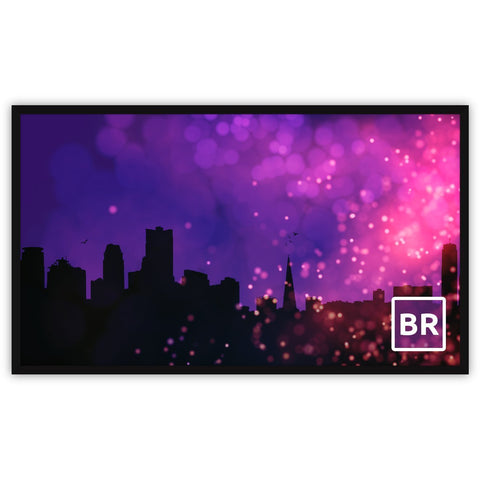 "Fixed Home Projection Screen 4K HD 1080p ready 16:9-16:10, 93""-150"""
