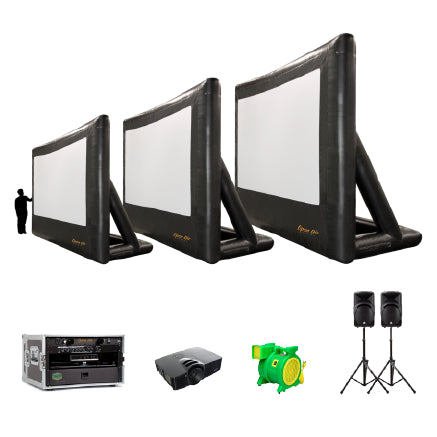 Open Air Cinema Inflatable Outdoor Movie Projector Screen Theater System