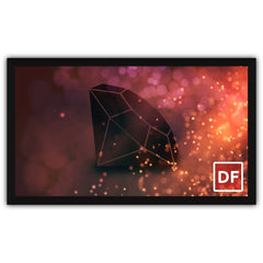 Fixed Frame Projector Screen Movie Theater Screen 4k HD 16:9 120 inch
