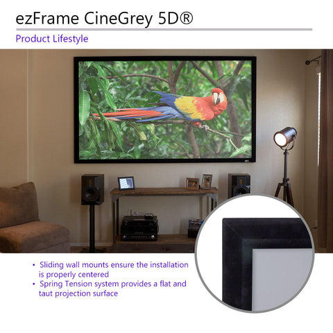 "Elite Screens ezFrame CineGrey 5D 110"" 4K HD Fixed Projector Screen"