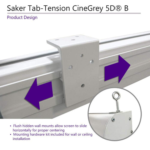 Elite Screens Saker Tab-Tension CineGrey5D B, 120 inch 16:9, Electric Projector Screen