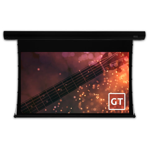 "Severtson Tab Tension Motorized Projector Screen Black Electric 4k 16:9 92""-150"""
