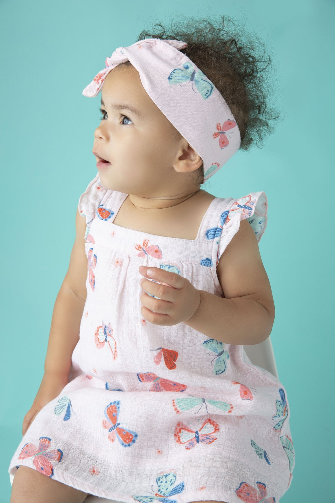 Butterfly Muslin Sundress & Bloomer