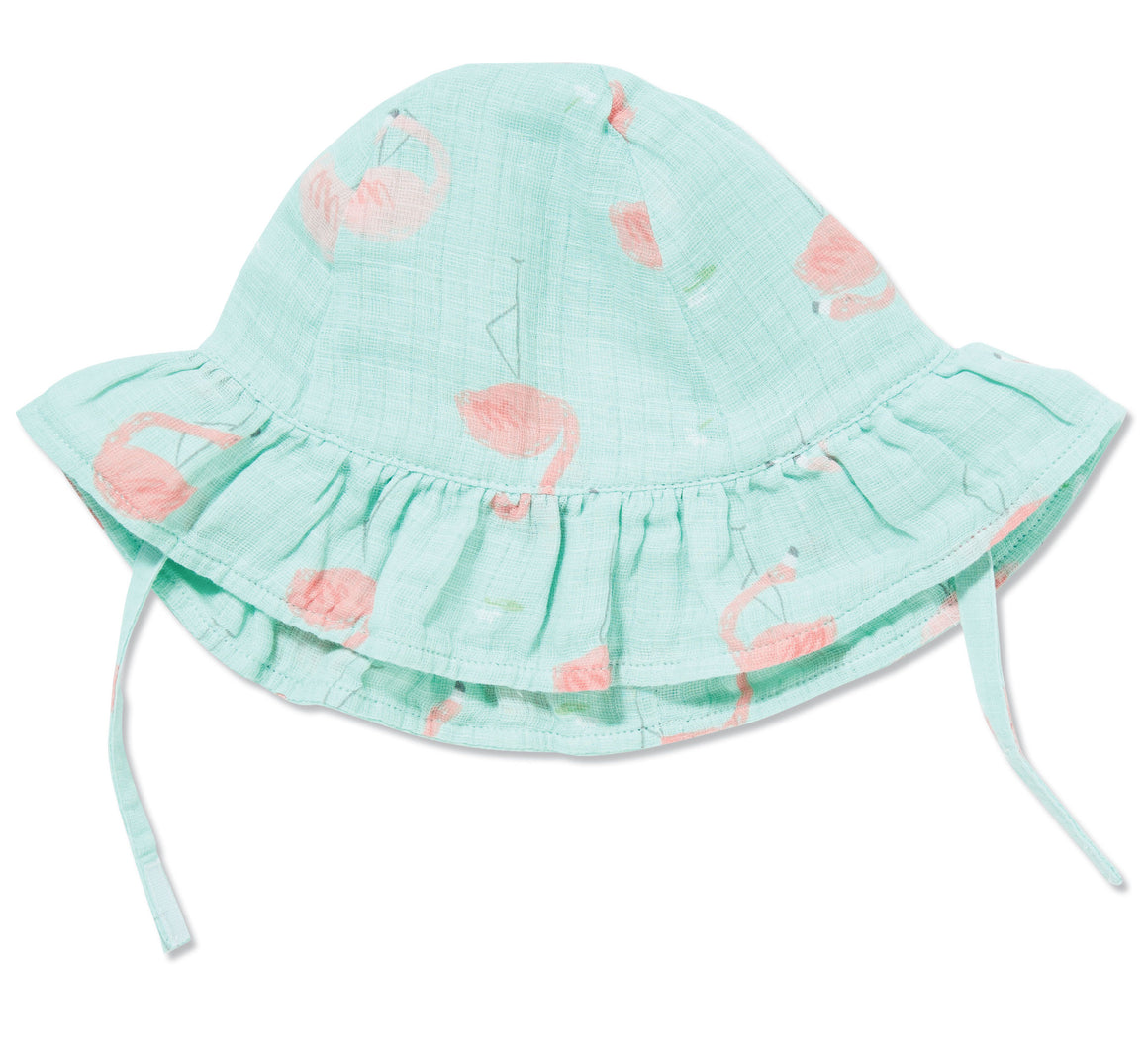 Flamingo Muslin Sun Hat