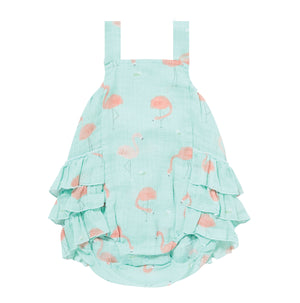Angel Dear Flamingo Muslin Ruffle Bubble