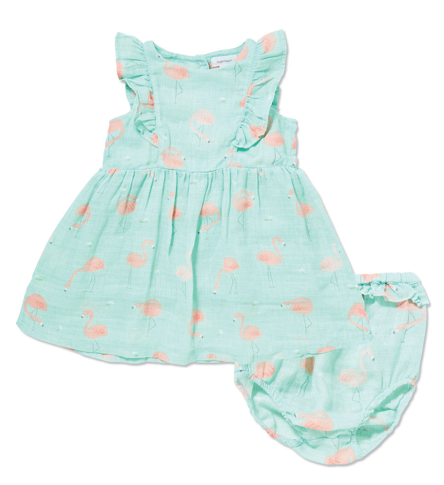Flamingo Muslin Sundress & Bloomer