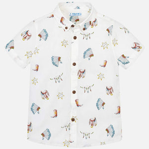 Wild West Cotton Button Down Shirt