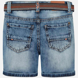 Denim Bermuda Short with Belt