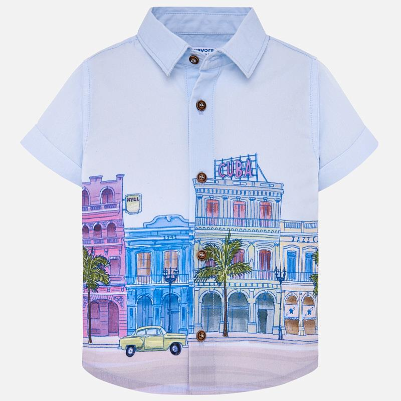 Cuba Cotton Button Down Shirt