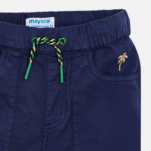 Navy Drawstring Bermuda Short
