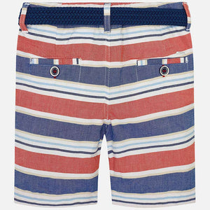 Oxford Striped Short with Belt