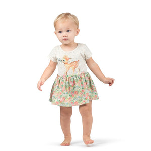 Butterfly Deer Tutu Onesie Dress