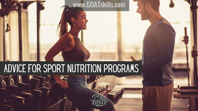 Advice for Sport Nutrition Programs