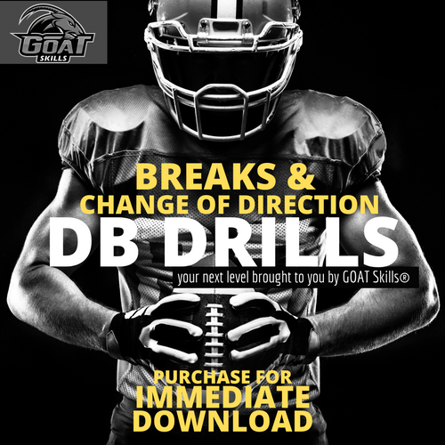 FOOTBALL BREAKS AND CHANGE OF DIRECTION DB DRILLS