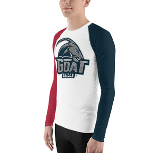 GOAT Skills All Over Long Sleeve 2 Tone Active Wear Red and Blue