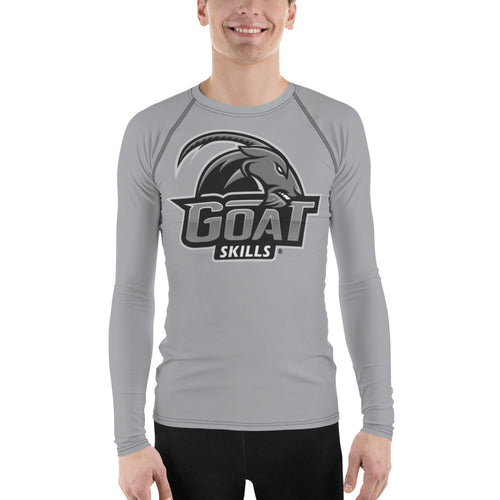 GOAT Skills All Over Men's Long Sleeve Active Wear Mid Gray