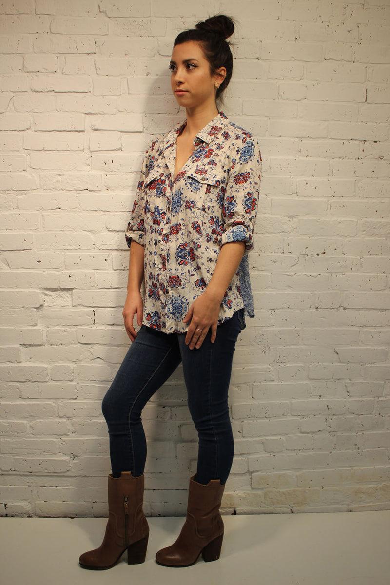 Bella Button Down Top