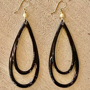 Earthyluxe Earrings - Water Buffalo Bone