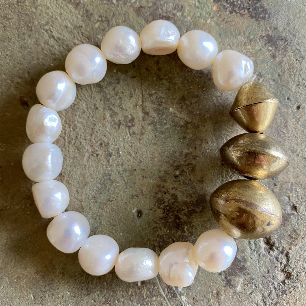 Earthyluxe by April Martin pearl cuff