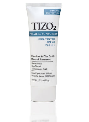 TIZO2 Facial Primer Sunscreen - non-tinted matte finish SPF 40