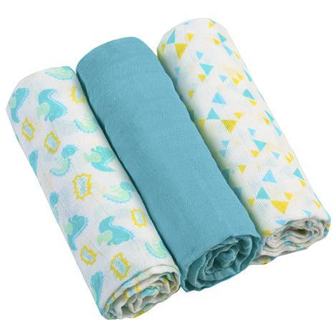Babyono Super soft muslin diapers 3 pcs - blue