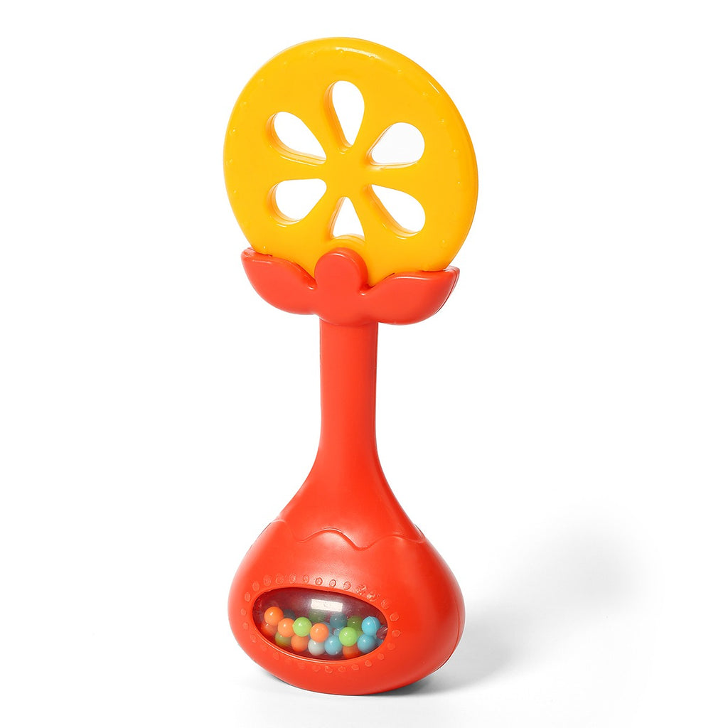Babyono JUICY ORANGE educational teether with rattle