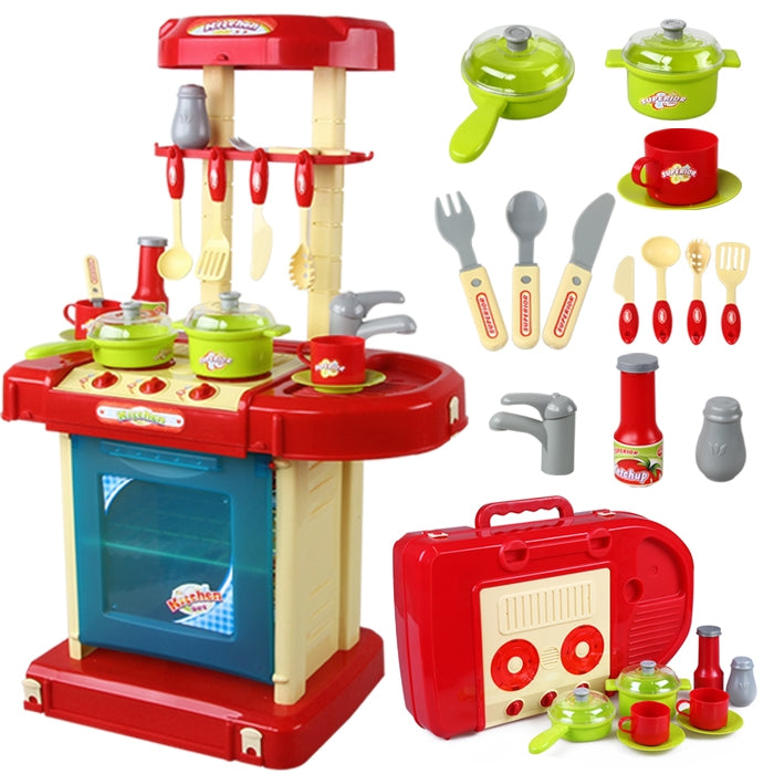 NEW! Little Chef Toys - Suitcase Set - Red