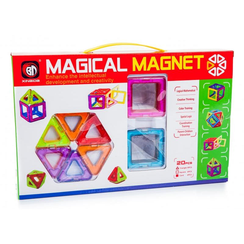 Magnetic 3D Puzzle Tiles  - 20 pc
