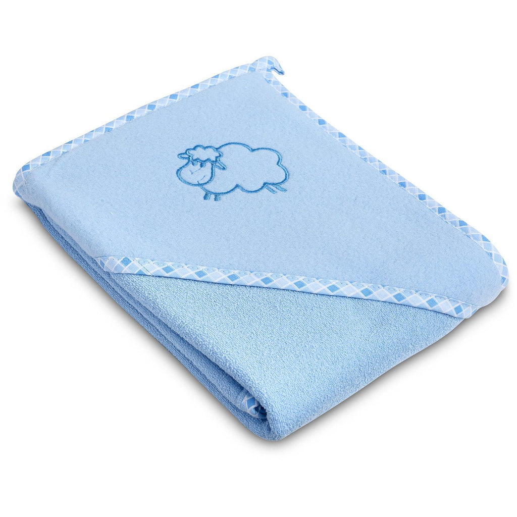 NEW! Sensillo Cotton Baby Hooded Towel - Blue