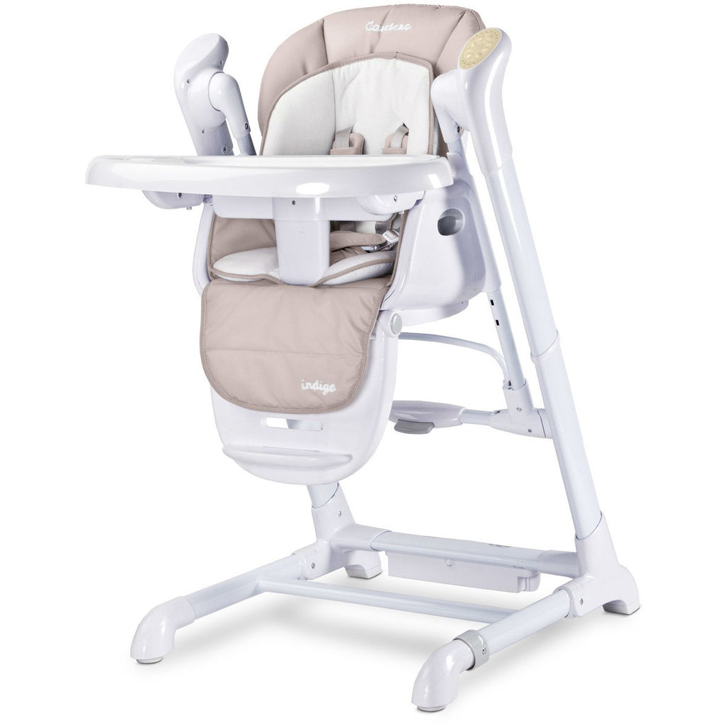 Caretero 2 in 1 High Chair and Swing Baby Swing Chair - Indigo Beige