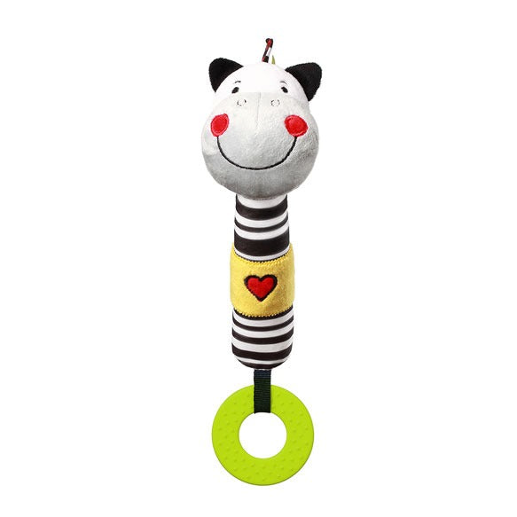 Babyono ZACK THE ZEBRA squeaky teething toy C-MORE COLLECTION