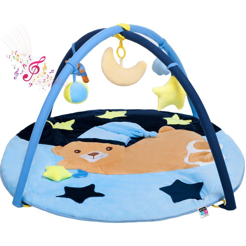 NEW! PlayTo Best Baby Gym Playmat - Blue Teddy