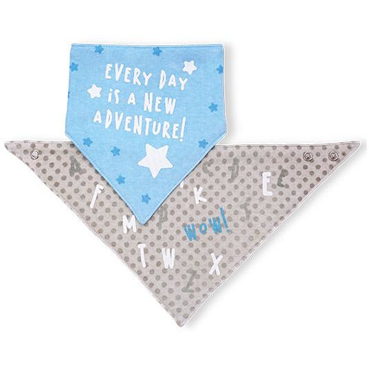 "Babyono Bandana bib - inscription ""every day..."""