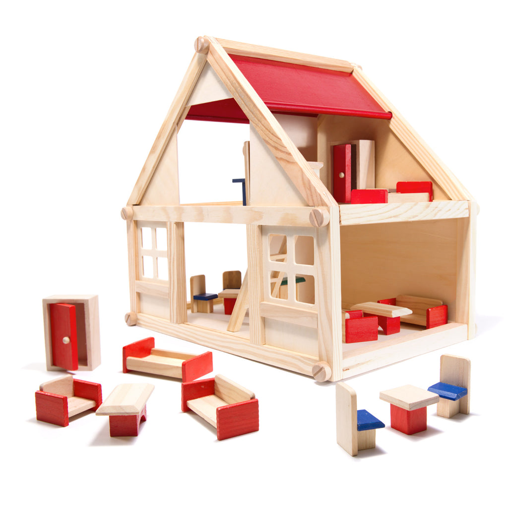 Montessori Style Wooden Doll House - 40 cm