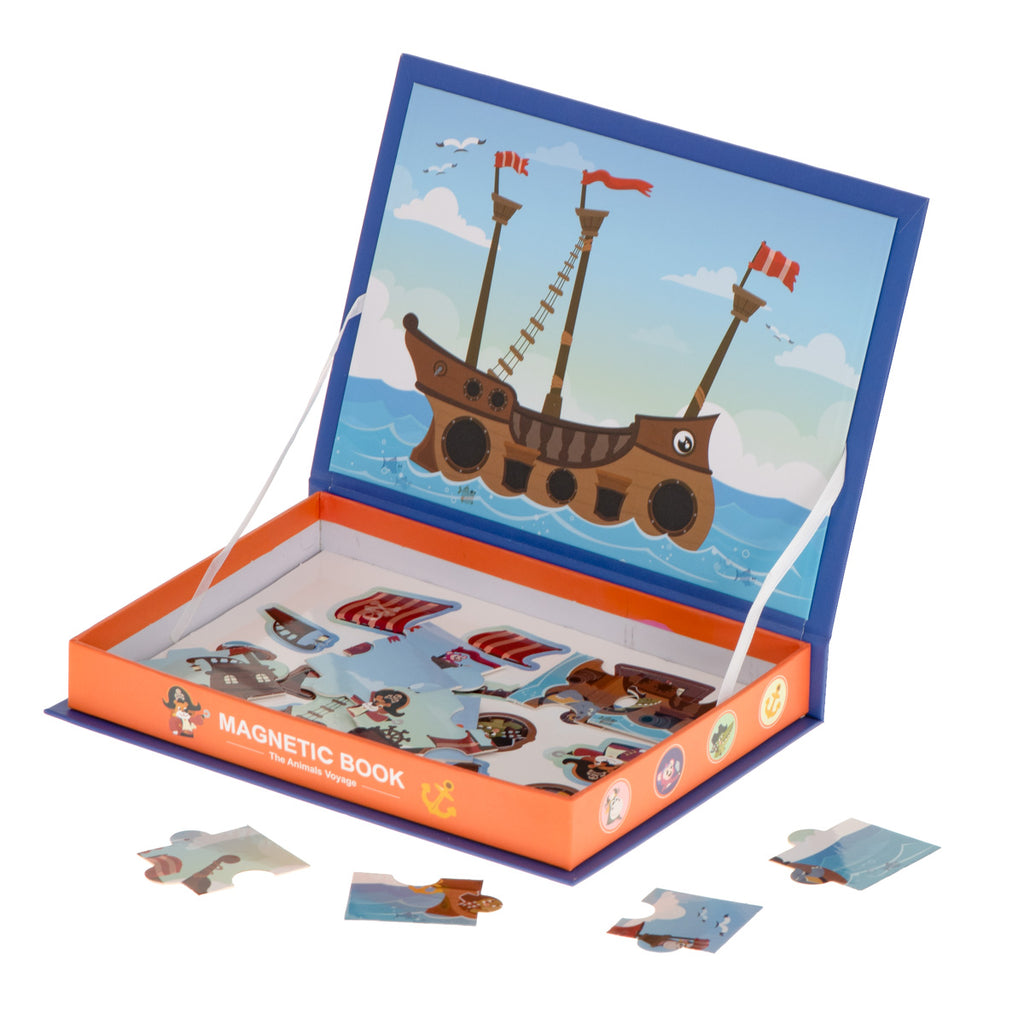 Magnetic Puzzle Book With Stickers - Pirate Ship