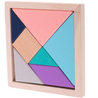 Tangram Puzzle Wooden Blocks - Montessori Style Toy