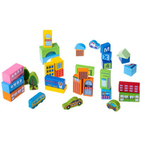Wooden Blocks Town Set - 100 pcs